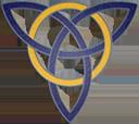 Blue Gold Trinity Knot