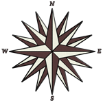 Brown Compass Rose