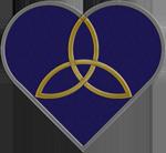 Blue Trinity Heart