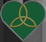 Green Trinity Heart