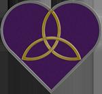 Purple Trinity Heart