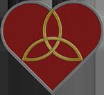 Red Trinity Heart
